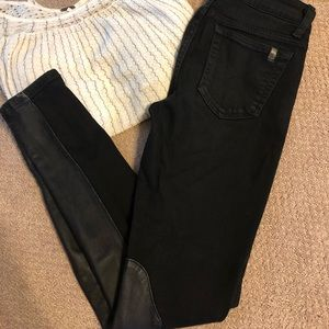 Black/ Leather Joes Jeans